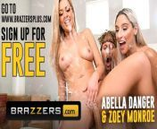 Brazzers - Zoey Monroe, Abella Danger Squirt In threesome from brezzers